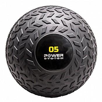 Мяч SlamBall для кросфита и фитнеса Power System PS-4115 5кг рифленый