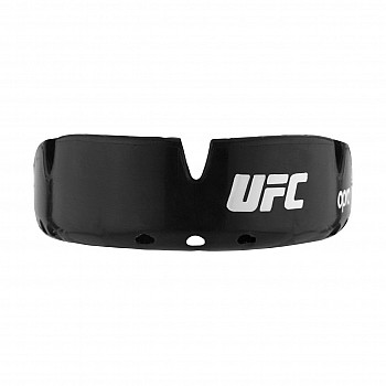 Капа OPRO Gold Braces UFC Hologram Black Metal/Silver - фото 2