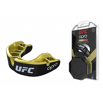 Капа OPRO Gold UFC Hologram Black Metal/Gold