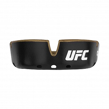 Капа OPRO Gold UFC Hologram Black Metal/Gold - фото 2