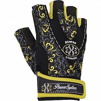 Перчатки для фитнеса и тяжелой атлетики Power System Classy Женские PS-2910 XS Black/Yellow