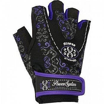 Перчатки для фитнеса и тяжелой атлетики Power System Classy Женские PS-2910 M Black/Purple