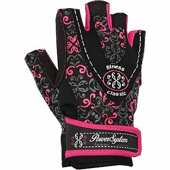 Перчатки для фитнеса и тяжелой атлетики Power System Classy Женские PS-2910 M Black/Pink