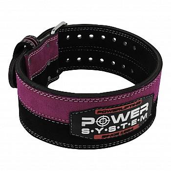 Пояс для пауэрлифтинга Power System PS-3850 Strong Femme Black/Pink M