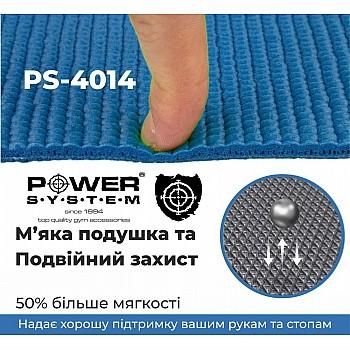 Коврик для йоги и фитнеса Power System  PS-4014 FITNESS-YOGA MAT Blue - фото 2