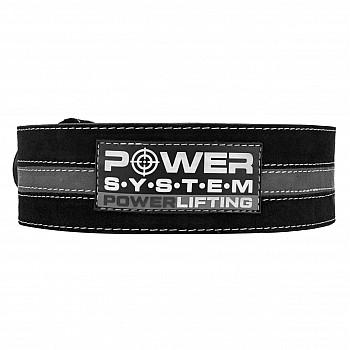 Пояс для пауэрлифтинга Power System Power Lifting PS-3800 L Black/Grey - фото 2