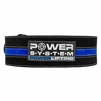 Пояс для пауэрлифтинга Power System Power Lifting PS-3800 XL Black/Blue - фото 2