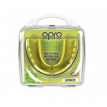 Капа OPRO Junior Snap-Fit Lemon Yellow Flavoured - фото 2