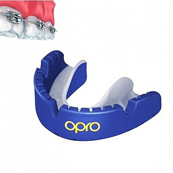 Капа OPRO Gold Braces Prl Blue/Prl