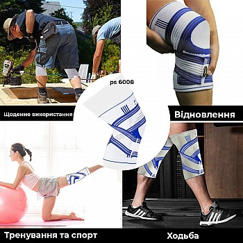 Наколенник Power System Knee Support Pro PS-6008 S/M Blue/White - фото 2