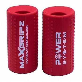 Расширители грифа Power System Max Gripz PS-4056 M 10*5 см Red (расширитель хвата) 2шт. - фото 2