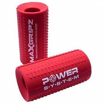 Расширители грифа Power System Max Gripz PS-4056 M 10*5 см Red (расширитель хвата) 2шт.