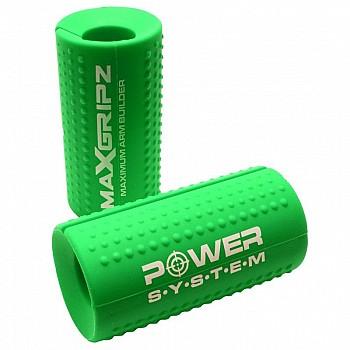 Расширители грифа Power System Max Gripz PS-4057 XL 12*5 см Green (расширитель хвата) 2шт.