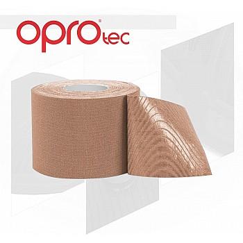 Кинезиологический тейп OPROtec Kinesiology Tape TEC57544 бежевый 5cм*5м - фото 2