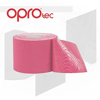Кинезиологический тейп OPROtec Kinesiology Tape TEC57543 розовый 5cм*5м - фото 2