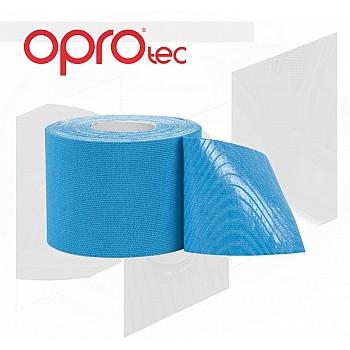Кинезиологический тейп OPROtec Kinesiology Tape TEC57542 синий 5cм*5м - фото 2