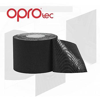 Кинезиологический тейп OPROtec Kinesiology Tape TEC57541 черный 5cм*5м - фото 2