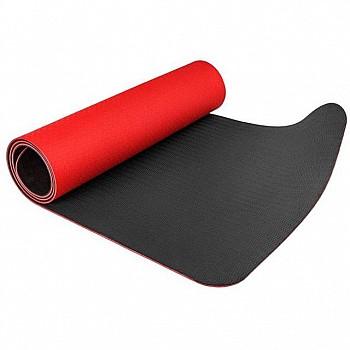 Коврик для йоги и фитнеса POWER SYSTEM YOGA MAT PREMIUM PS-4060 Red - фото 2