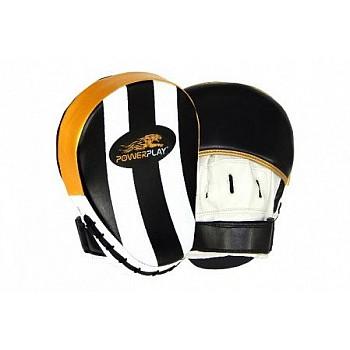 Лапи боксерські PowerPlay 3041 Золоті PU [пара]