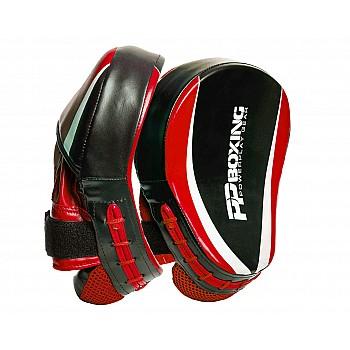Лапи боксерські PowerPlay 3050 Чорно-Червоні PU [пара] - фото 2