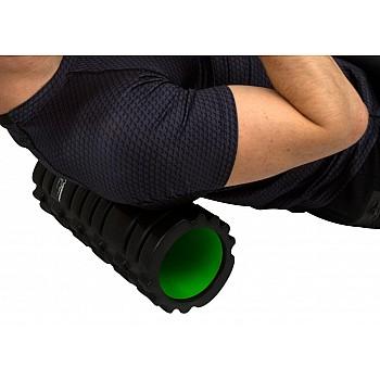 Масажний ролик PowerPlay 4025 Чорно-Зелений. - фото 2