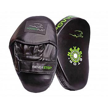 Лапи боксерські PowerPlay 3051 Чорно-Зелені PU [пара] - фото 2
