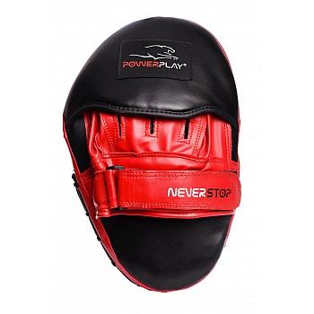 Лапи боксерські PowerPlay 3051 Чорно-Червоні PU [пара] - фото 2