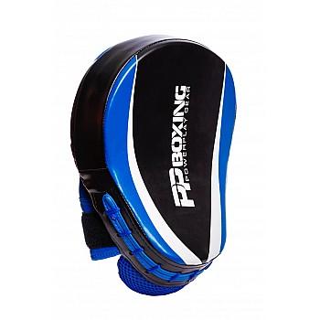 Лапи боксерські PowerPlay 3050 Чорно-Сині PU [пара] - фото 2