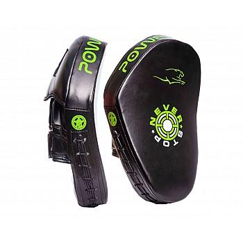 Лапи боксерські PowerPlay 3051 Чорно-Зелені PU [пара]