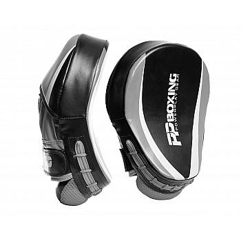 Лапи боксерські PowerPlay 3050 Чорно-Cірі PU [пара]