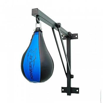 Пневмогруша боксерская PowerPlay 3061 Черно-Синяя M - фото 2
