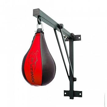 Пневмогруша боксерская PowerPlay 3061 Черно-Красная M - фото 2