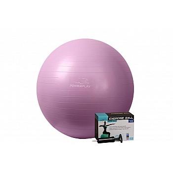 М'яч для фітнесу PowerPlay 4001 75см Фіолетовий + насос