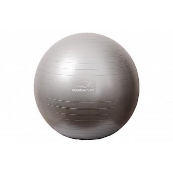 М'яч для фітнесу PowerPlay 4001 75см Срібний + насос - фото 2
