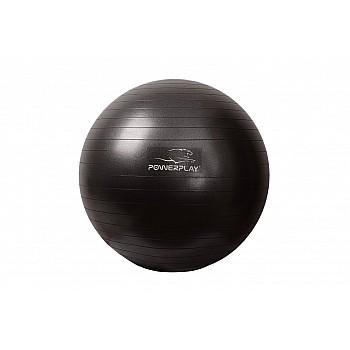 М'яч для фітнесу PowerPlay 4001 65см Чорний + насос - фото 2