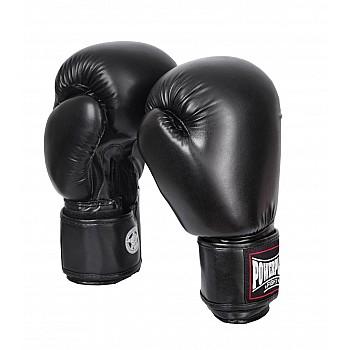 Боксерські рукавиці PowerPlay 3004 Чорні 12 унцій - фото 2