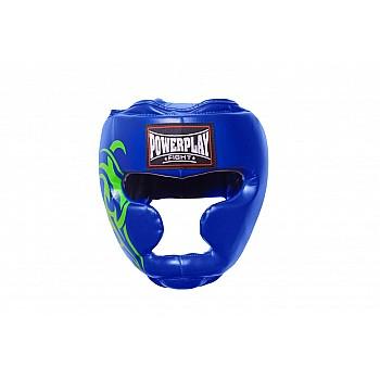 Боксерський шолом тренувальний PowerPlay 3043 Синій L - фото 2