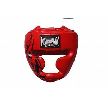 Боксерський шолом тренувальний PowerPlay 3043 Червоний XL - фото 2