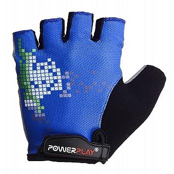 Велорукавички PowerPlay 002 D Сині M - фото 2