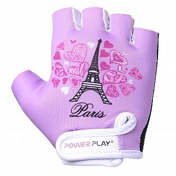 Велорукавички PowerPlay 001 Париж фіолетові 2XS - фото 2