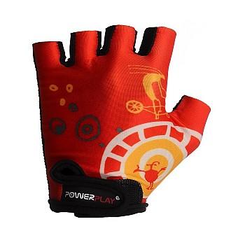 Велорукавички PowerPlay 001 B Червоні 3XS - фото 2