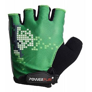 Велорукавички PowerPlay 002 C Зелені M - фото 2