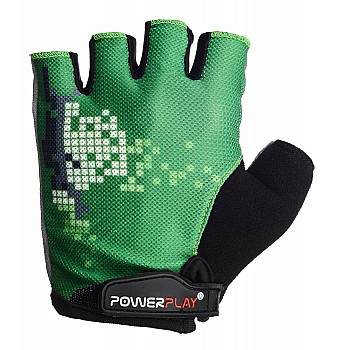 Велорукавички PowerPlay 002 C Зелені L - фото 2