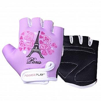 Велорукавички PowerPlay 001 Париж фіолетові 2XS