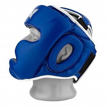 Боксерський шолом тренувальний PowerPlay 3068 PU + Amara Синьо-Білий S - фото 2