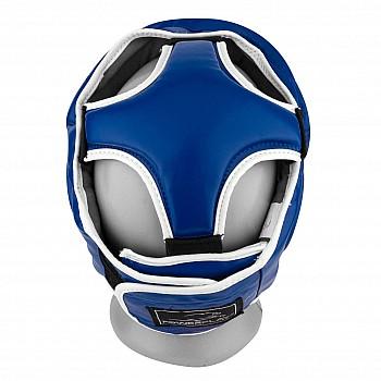 Боксерський шолом тренувальний PowerPlay 3068 PU + Amara Синьо-Білий XS - фото 2