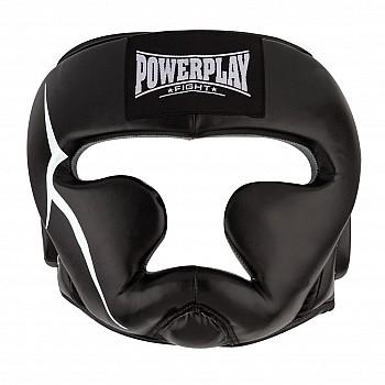 Боксерський шолом тренувальний PowerPlay 3066 PU + Amara Чорний XL - фото 2