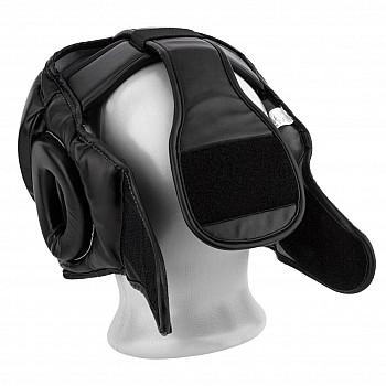 Боксерський шолом тренувальний PowerPlay 3066 PU + Amara Чорний L - фото 2