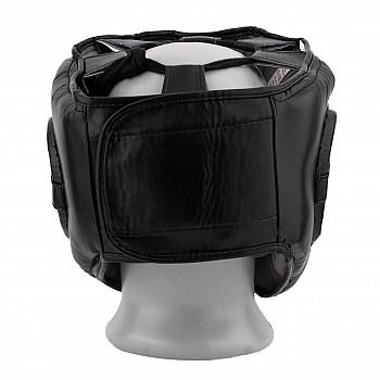 Боксерський шолом тренувальний PowerPlay 3067 з бампером PU + Amara Чорний XL - фото 2