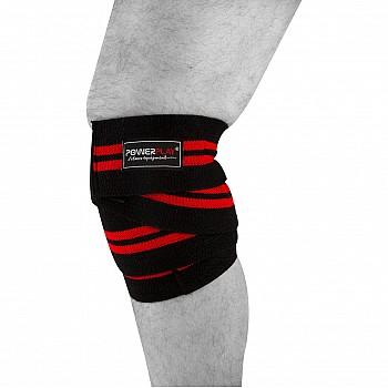 Бинти для колін PowerPlay 2509 Чорно-Червоні - фото 2